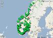 Oversikt med norgeskart!