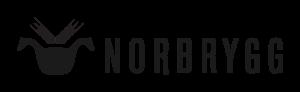 Norbrygg logo svart liggende